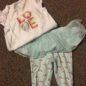 Two piece carters rainbow outfit
